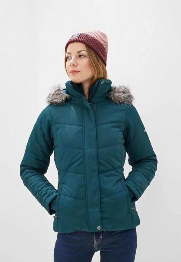 женская куртка columbia, зеленая