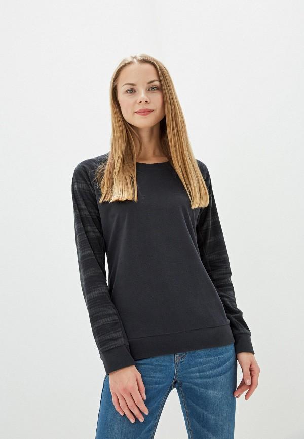 женский свитшот columbia, черный