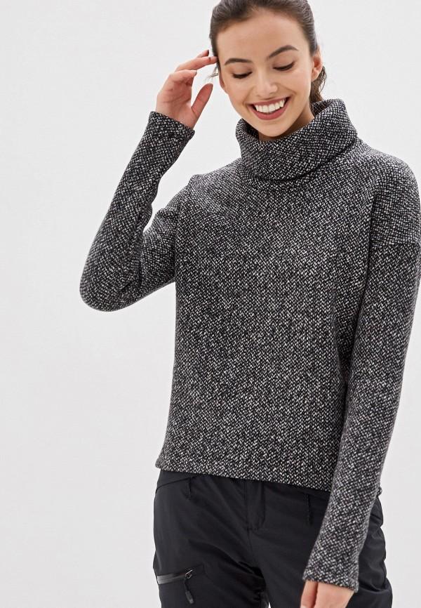 женский свитер columbia, черный