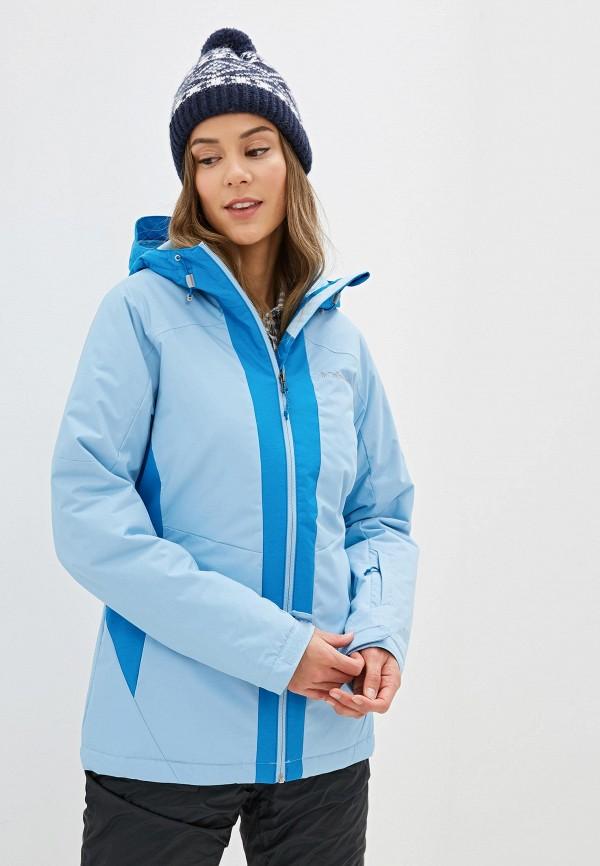 женская куртка columbia, голубая