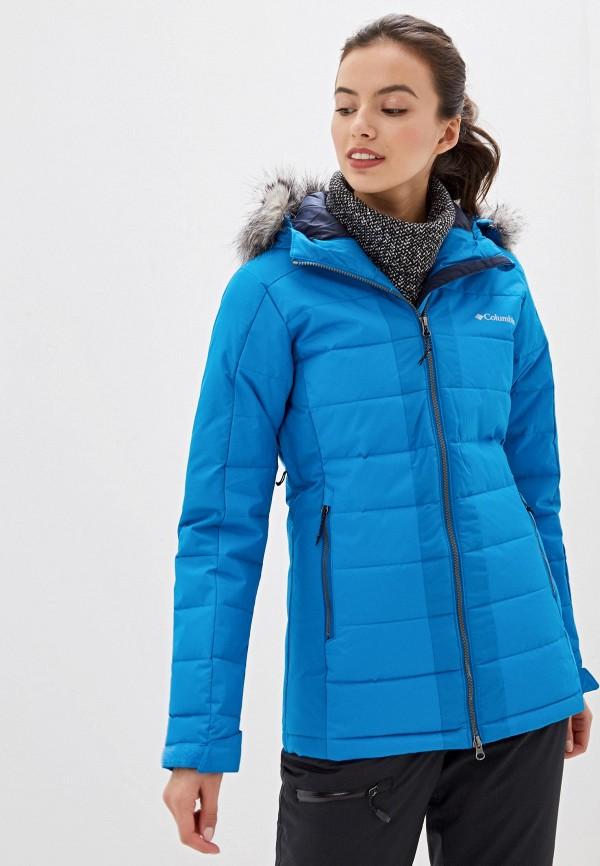 женская куртка columbia, синяя