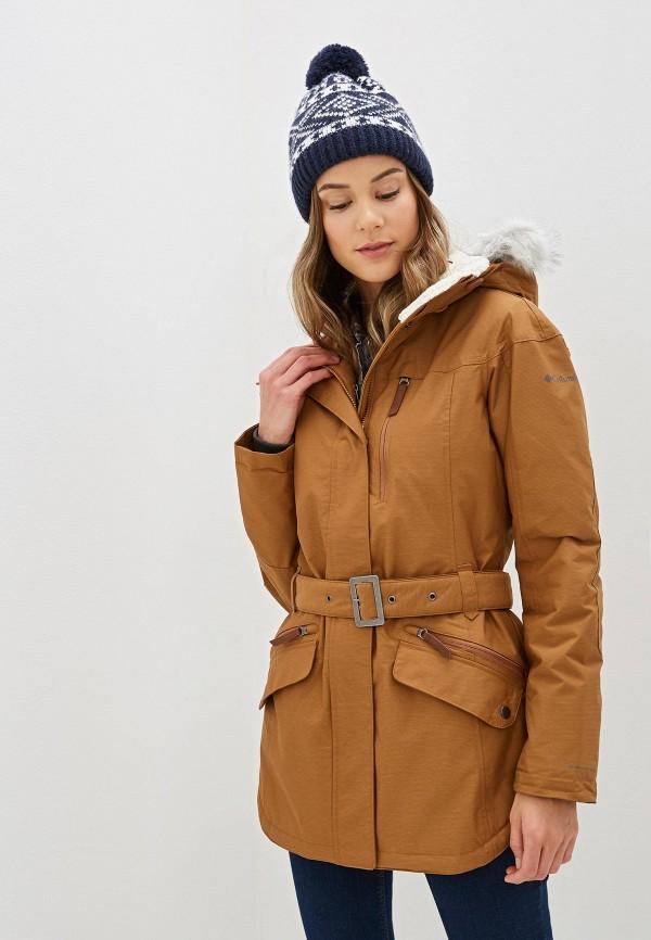 женская куртка columbia, коричневая