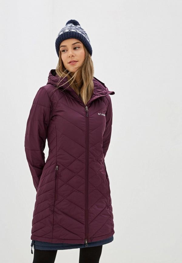 женская куртка columbia, бордовая