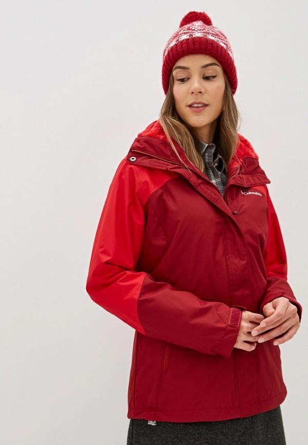 женская куртка columbia, красная