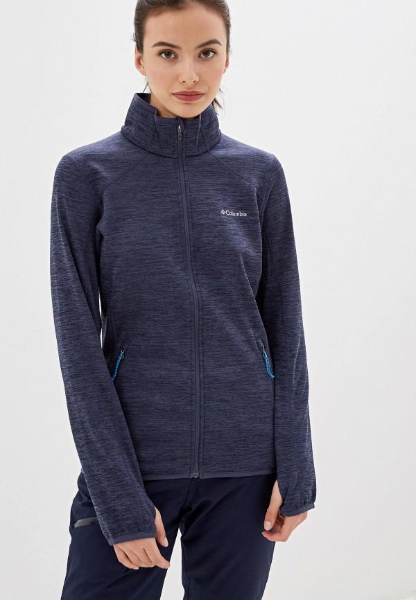 женская олимпийка columbia, синяя