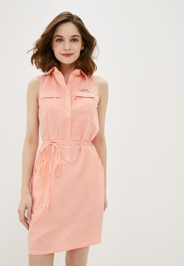 женское спортивные платье columbia, розовое