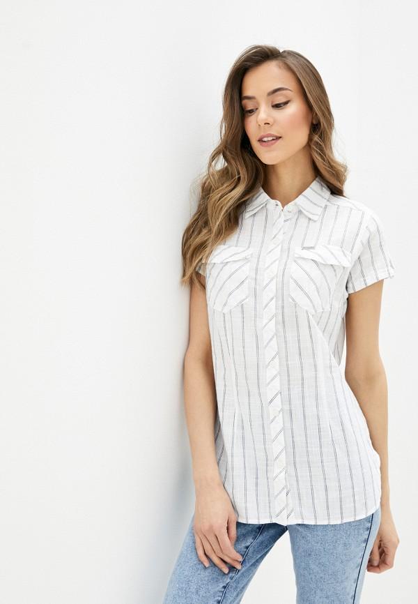 женская рубашка с коротким рукавом columbia, белая