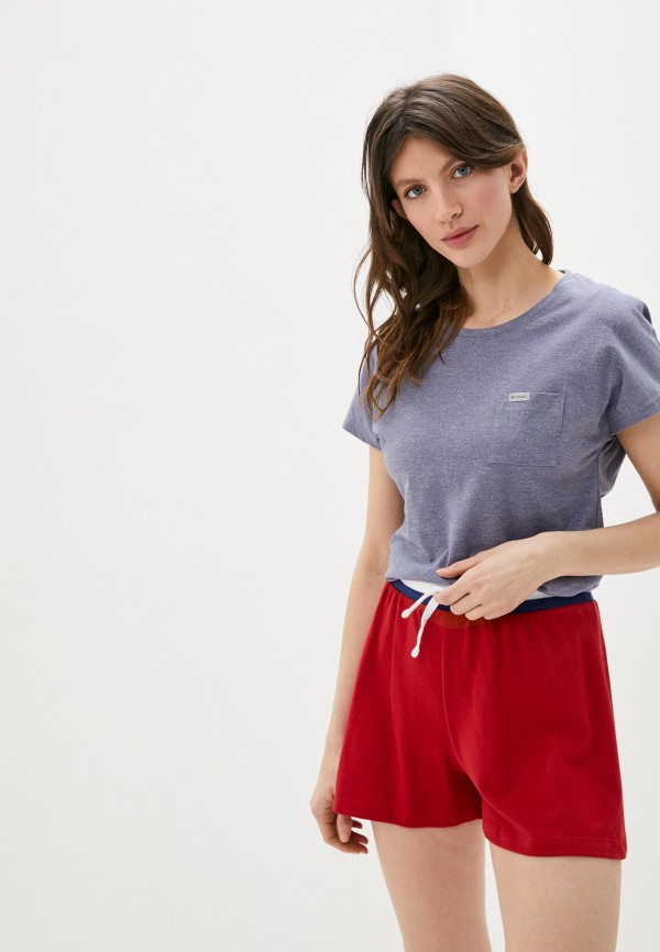 женская спортивные футболка columbia, синяя