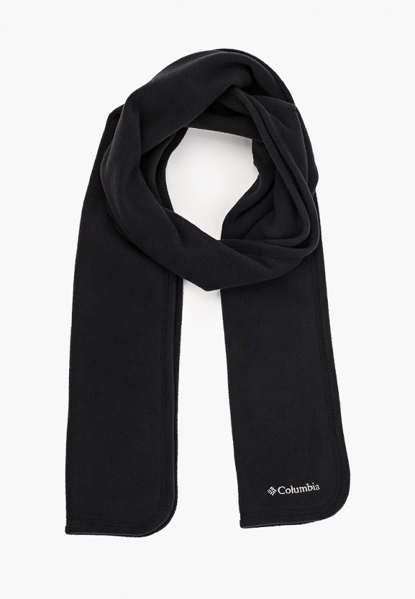 женский шарф columbia, черный
