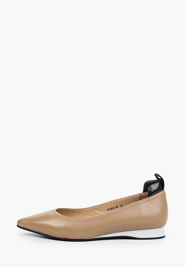 женские туфли с закрытым носом corso como, бежевые