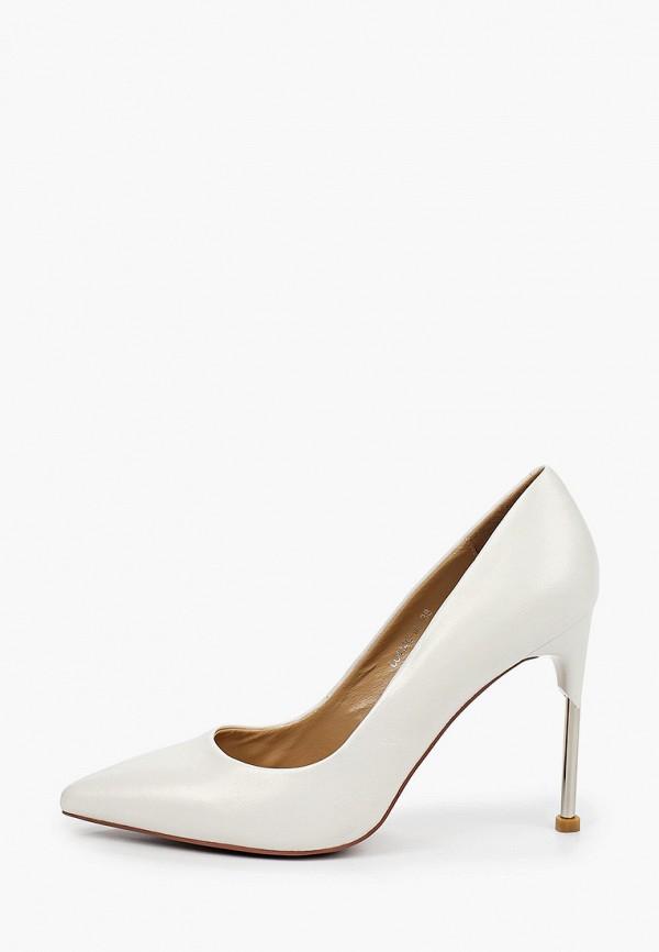 женские туфли-лодочки corso como, белые