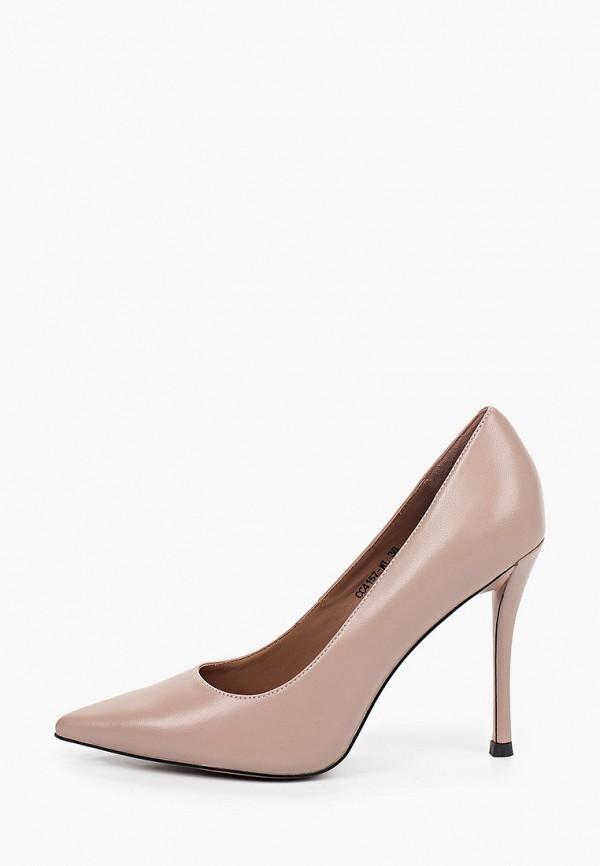 женские туфли-лодочки corso como, бежевые