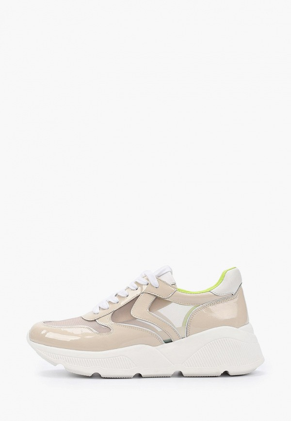 женские кроссовки corso como, бежевые