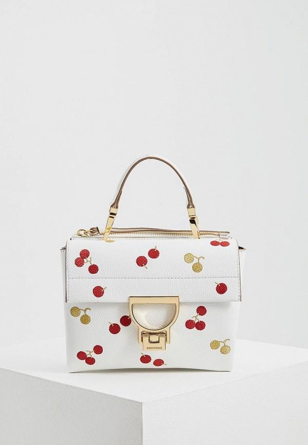 женская сумка coccinelle, белая