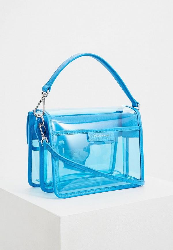 Фото 2 - женскую сумку Coccinelle голубого цвета