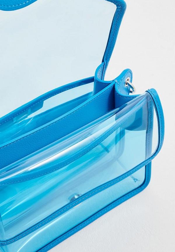 Фото 4 - женскую сумку Coccinelle голубого цвета