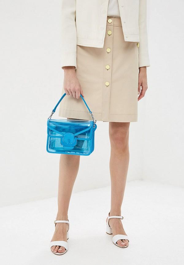 Фото 5 - женскую сумку Coccinelle голубого цвета