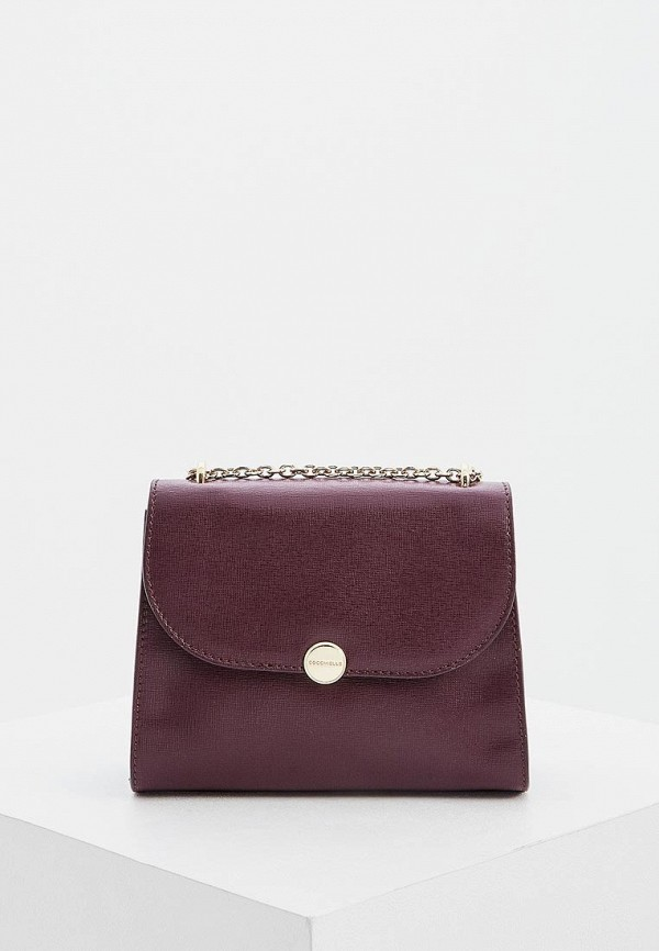 женская сумка coccinelle, бордовая