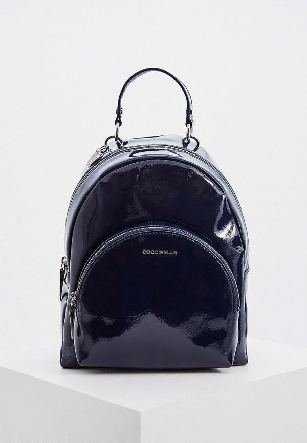 женский рюкзак coccinelle, синий