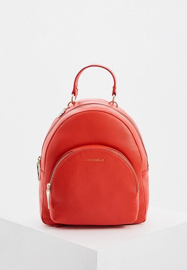 женский рюкзак coccinelle, красный