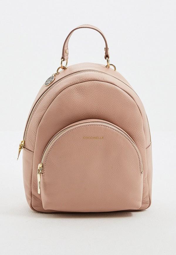женский рюкзак coccinelle, бежевый