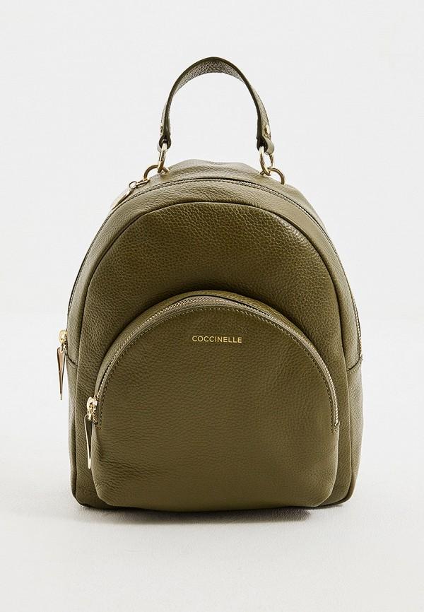 женский рюкзак coccinelle, зеленый