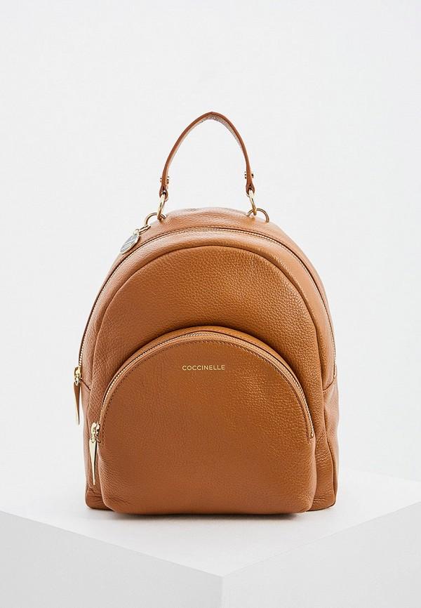 женский рюкзак coccinelle, коричневый