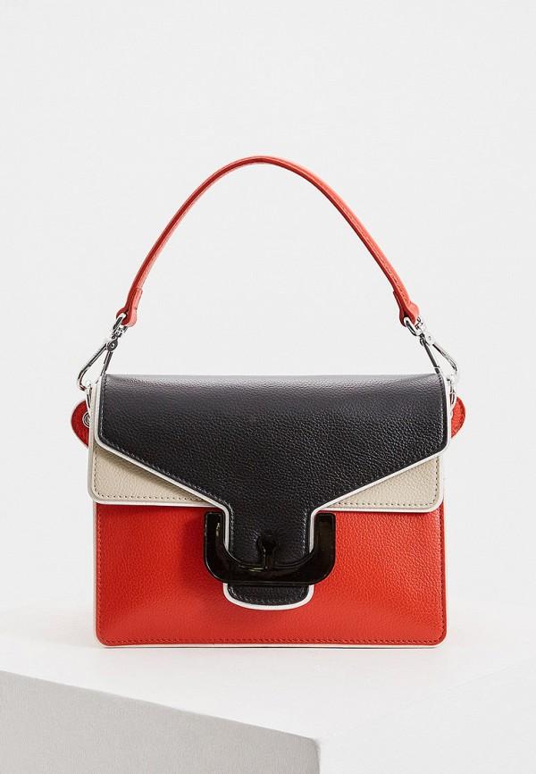 женская сумка через плечо coccinelle, разноцветная