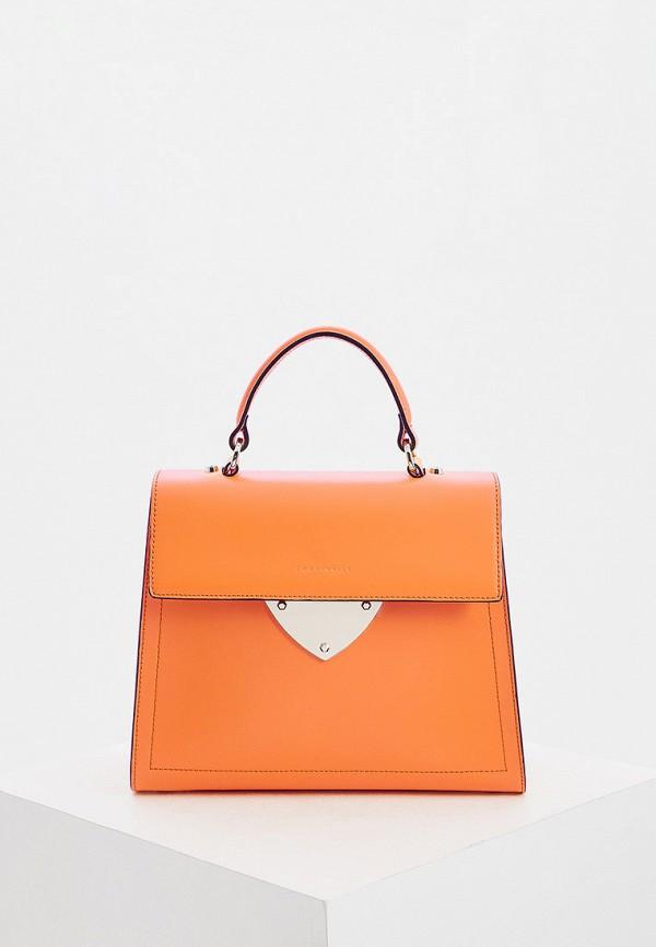 женская сумка coccinelle, оранжевая