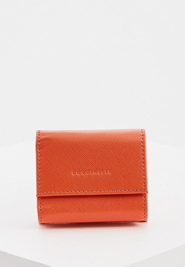 женский кошелёк coccinelle, оранжевый