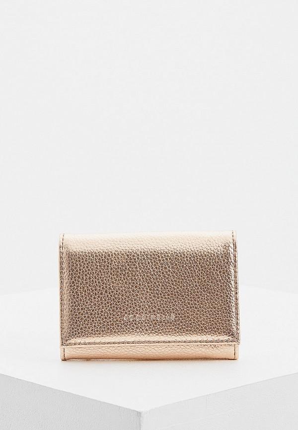 женский кошелёк coccinelle, золотой