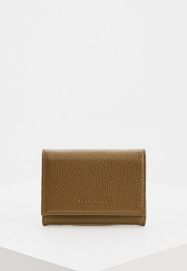 женский кошелёк coccinelle, хаки