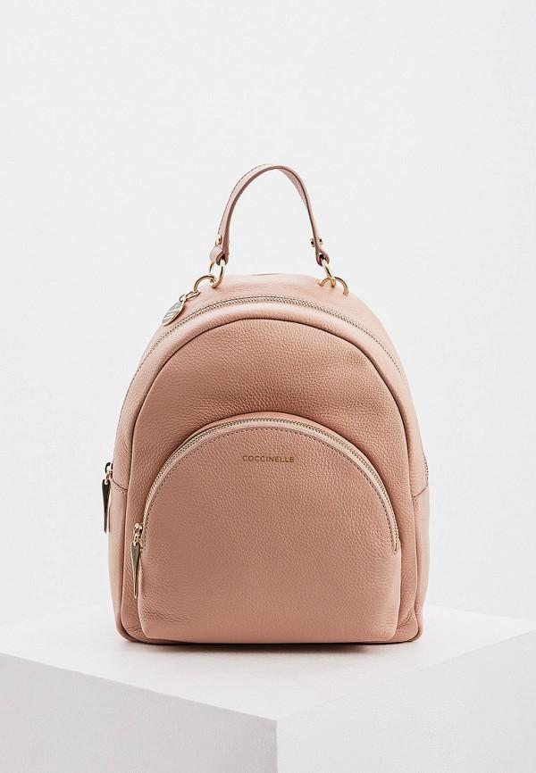 женский рюкзак coccinelle, розовый