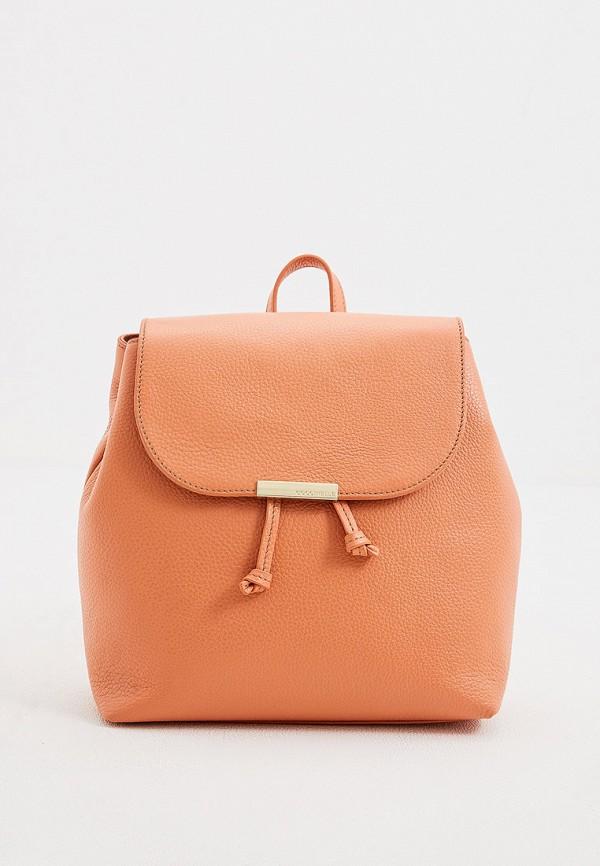 женский рюкзак coccinelle, оранжевый