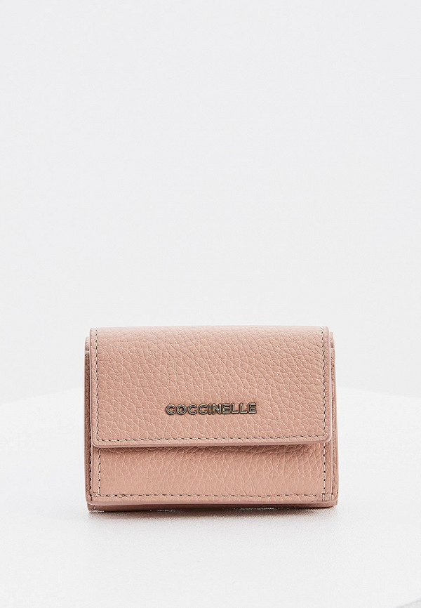 женский кошелёк coccinelle, розовый