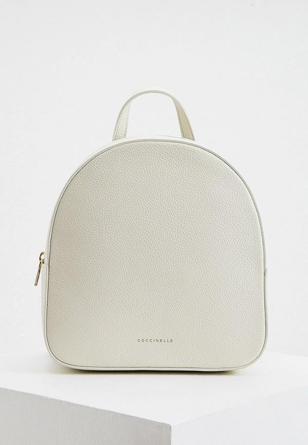 женский рюкзак coccinelle, белый