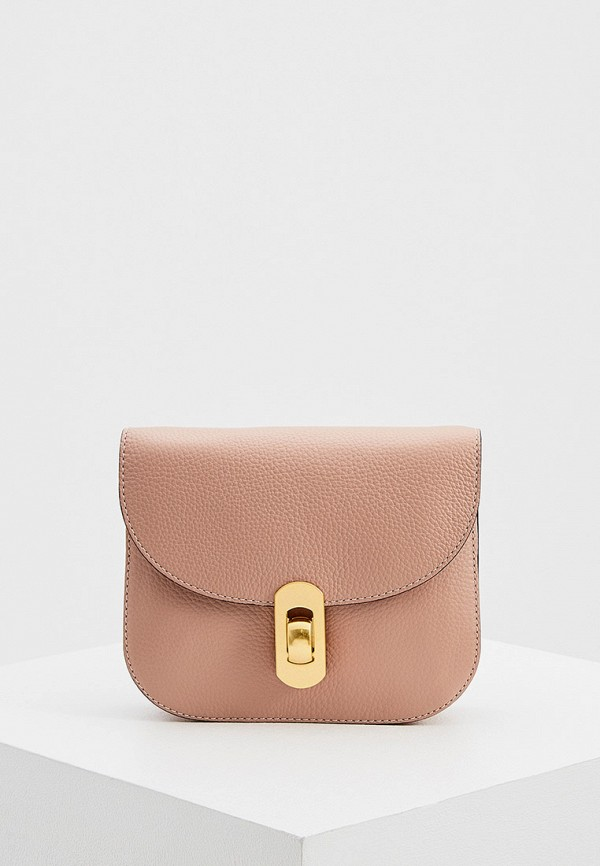 женская сумка coccinelle, розовая