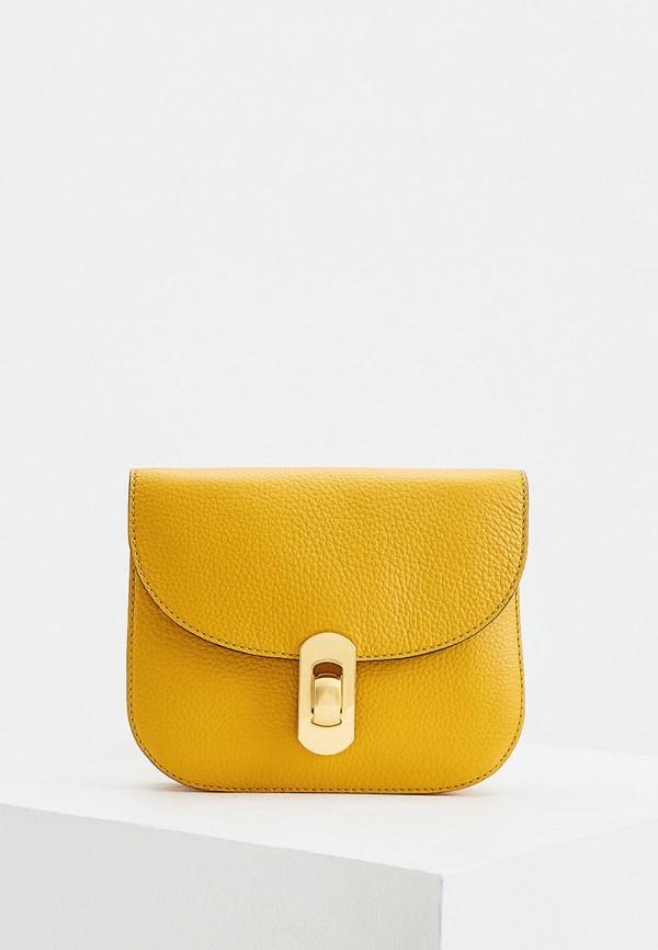 женская сумка coccinelle, желтая