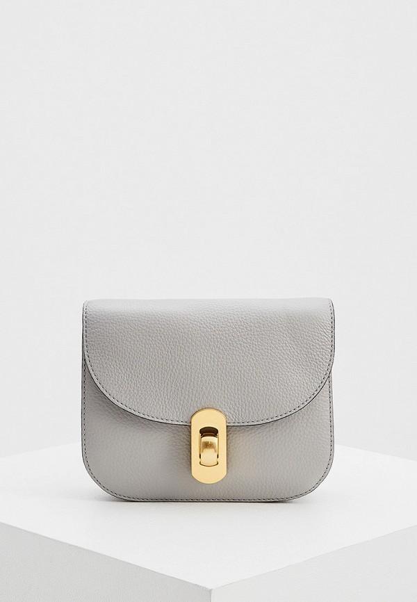 женская поясные сумка coccinelle, серая