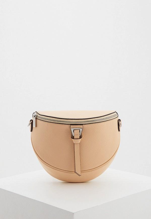женская поясные сумка coccinelle, бежевая