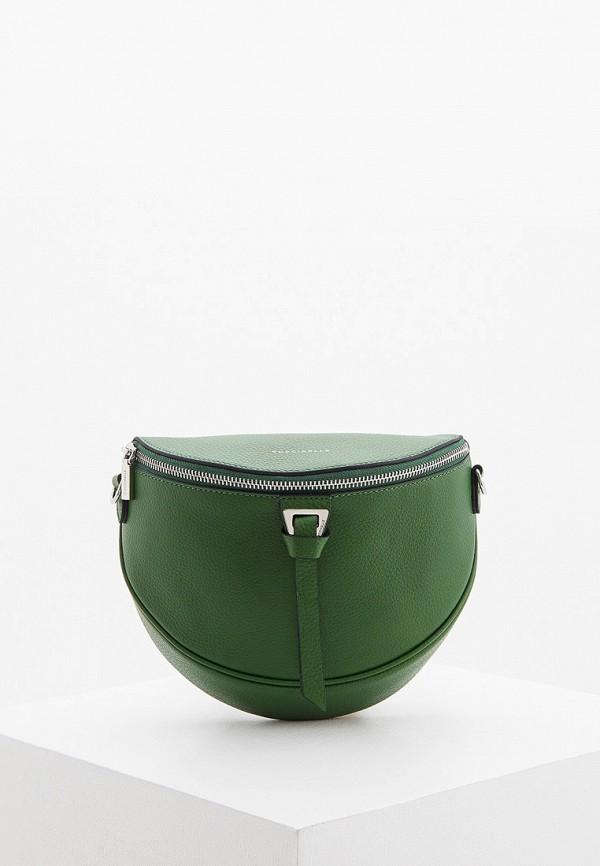 женская поясные сумка coccinelle, зеленая