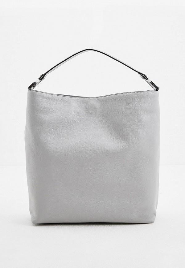 женская сумка с ручками coccinelle, серая