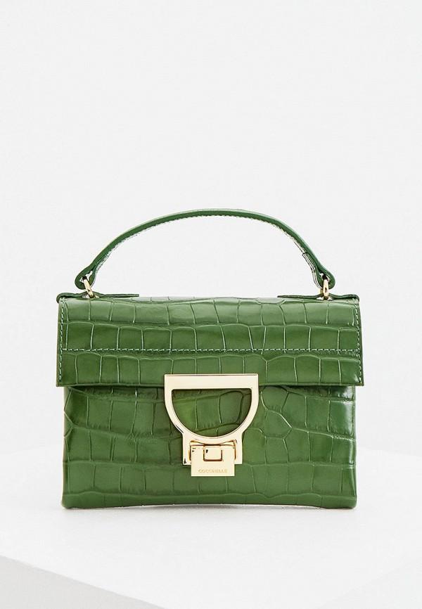 женская сумка coccinelle, зеленая