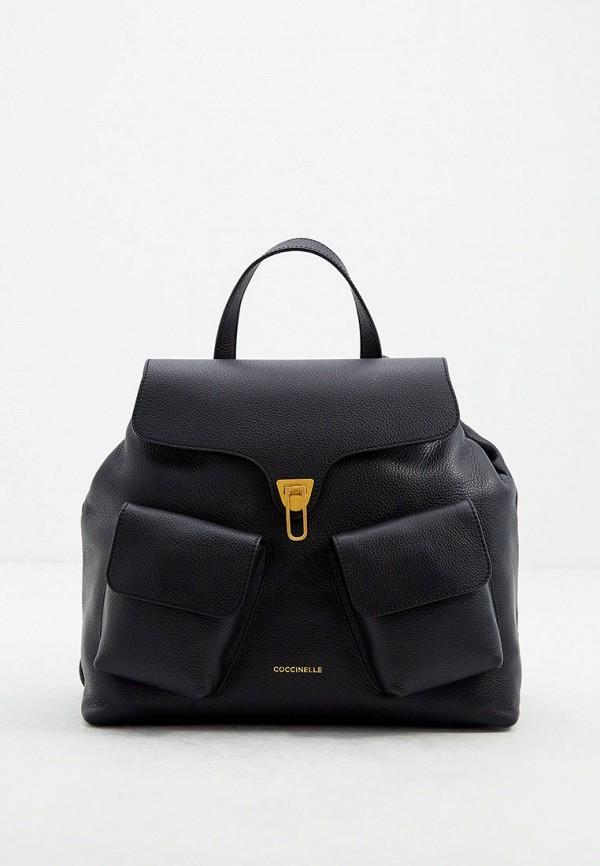 женский рюкзак coccinelle, черный