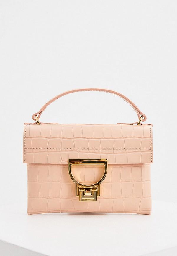 женский клатч coccinelle, розовый