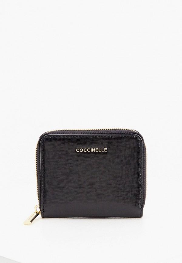 женский кошелёк coccinelle, черный