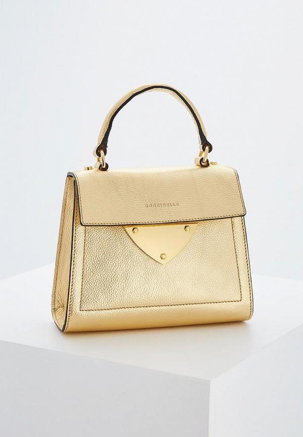 женская сумка coccinelle, золотая
