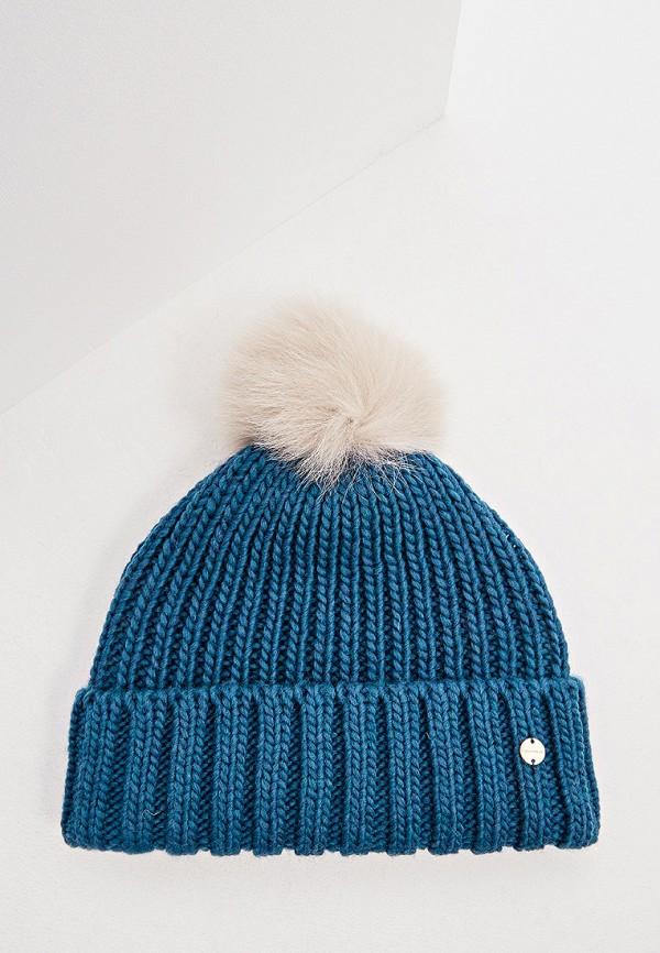 женская шапка coccinelle, синяя