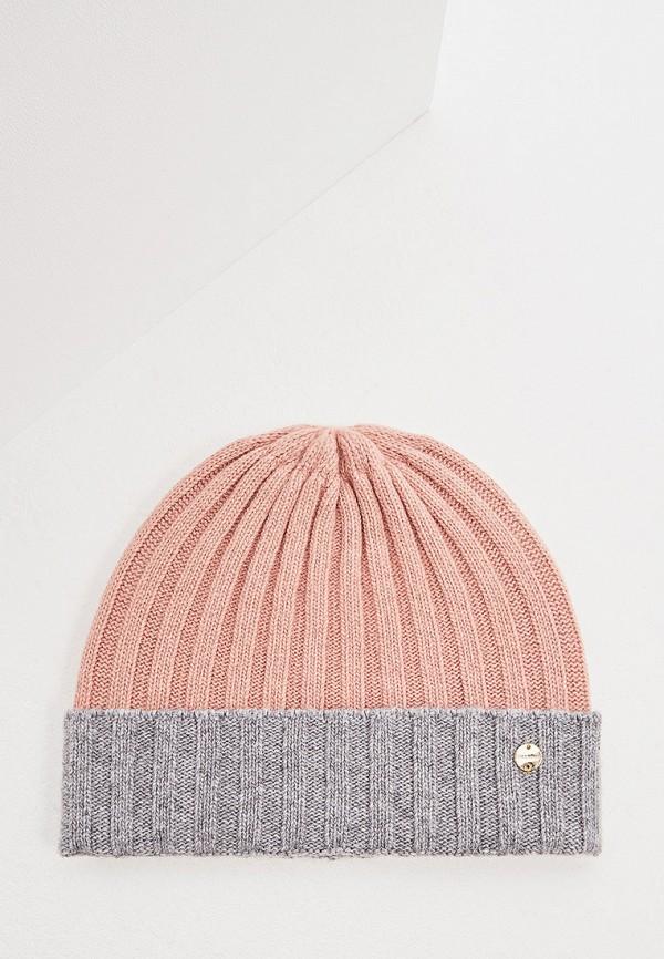 женская шапка coccinelle, розовая