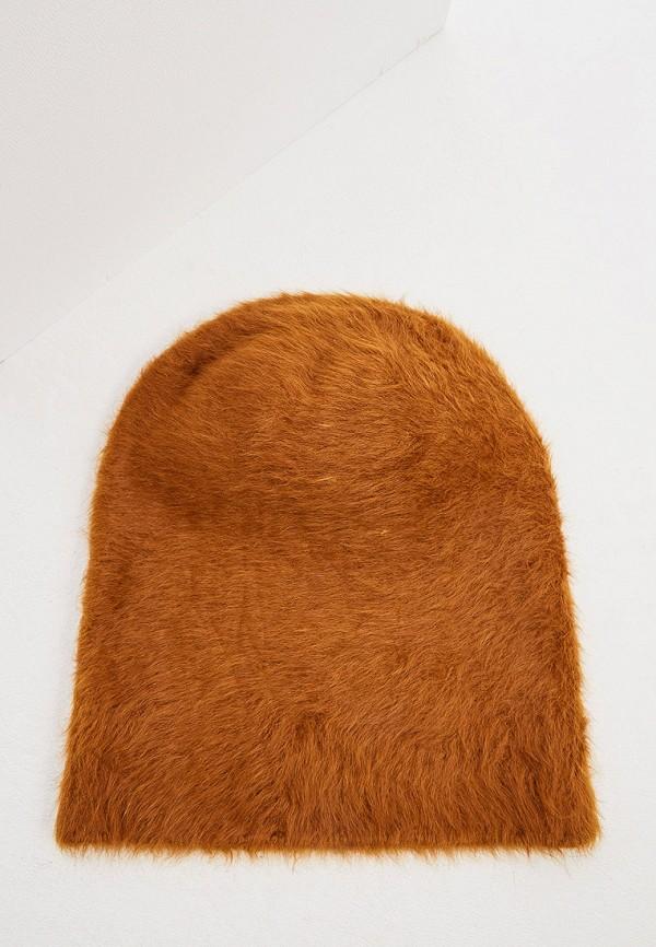 женская шапка coccinelle, коричневая